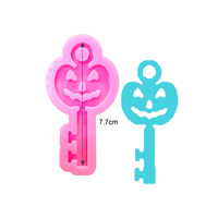 S980 shiny silicone pumpkin key mold for keychains