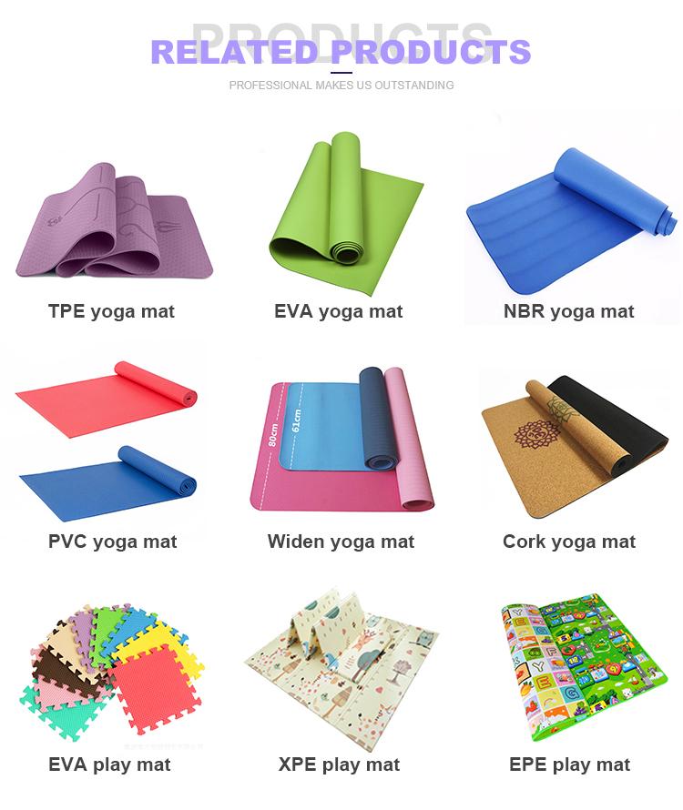 Produttore di fabbrica di trasporto stampato portatile 3-6mm personalizzata logo in rilievo stuoia di Yoga stuoie di yoga del PVC