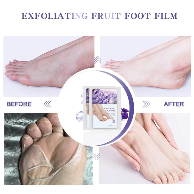 Wholesales Private Label Moisturizing Exfoliating Peeling Vegan Lavender Baby Feet Foot Care Mask