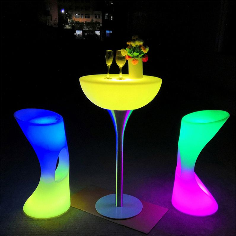 Restaurant Led Table Wood Bar 180 Outdoor Waterproof Party