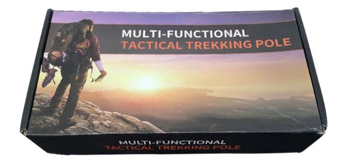 Lightweight Trekking Pole Tactical Cane Walking Survival Hiking Stick