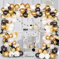 123Pcs Black White Gold Balloons Arch Balloon Garland Kit For Engagement Wedding Birthday Baby Shower Christmas Party Decoration