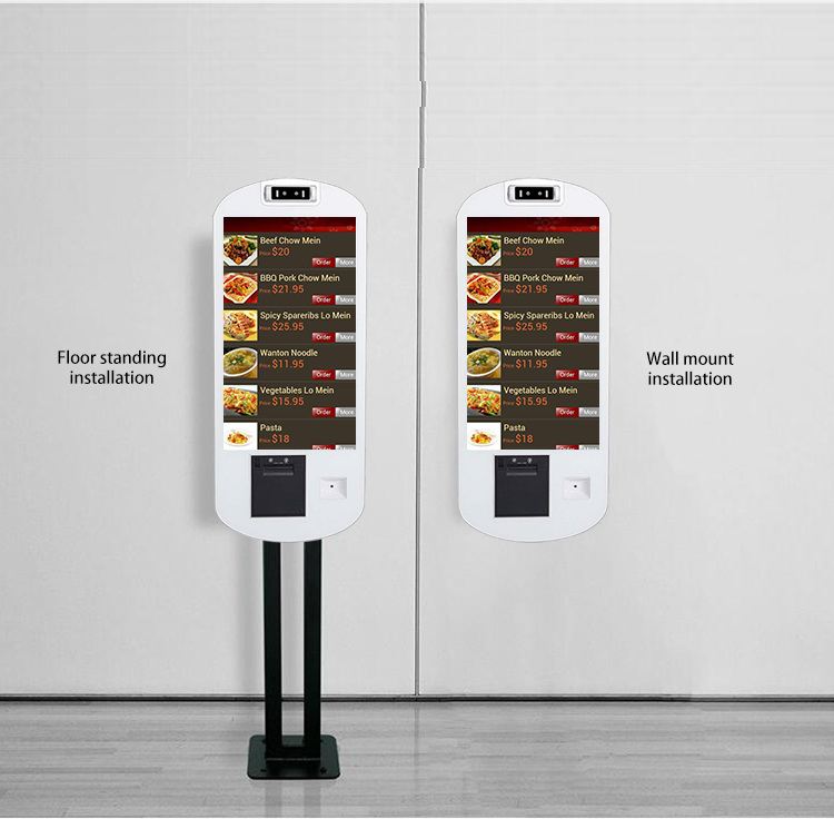 21.5 inch floor stand bill betaling kiosk met touch screen