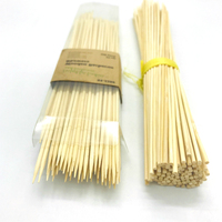 Grilled BBQ Flat Bamboo Sticks Natural Bamboo Skewer