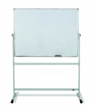 120x90cm double sided reversible white board easel mobile magnetic whiteboard stand for classroom office home
