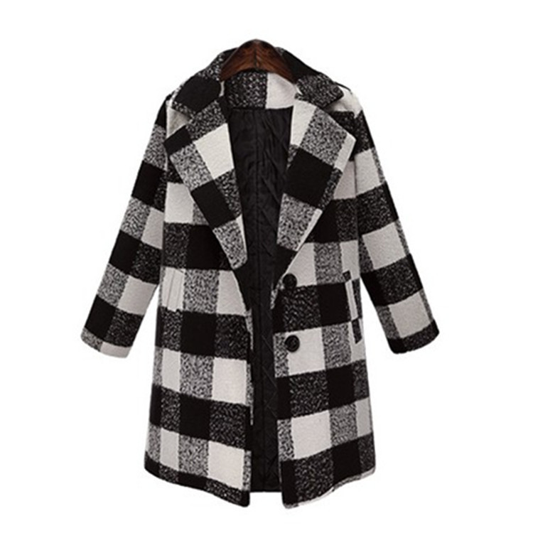 Amazon Winter Woolen Cloth Single Breasted Plaid Rain <strong>Coats</strong> Jackets Long <strong>Trench</strong> <strong>Coats</strong> <strong>For</strong> <strong>Women</strong>