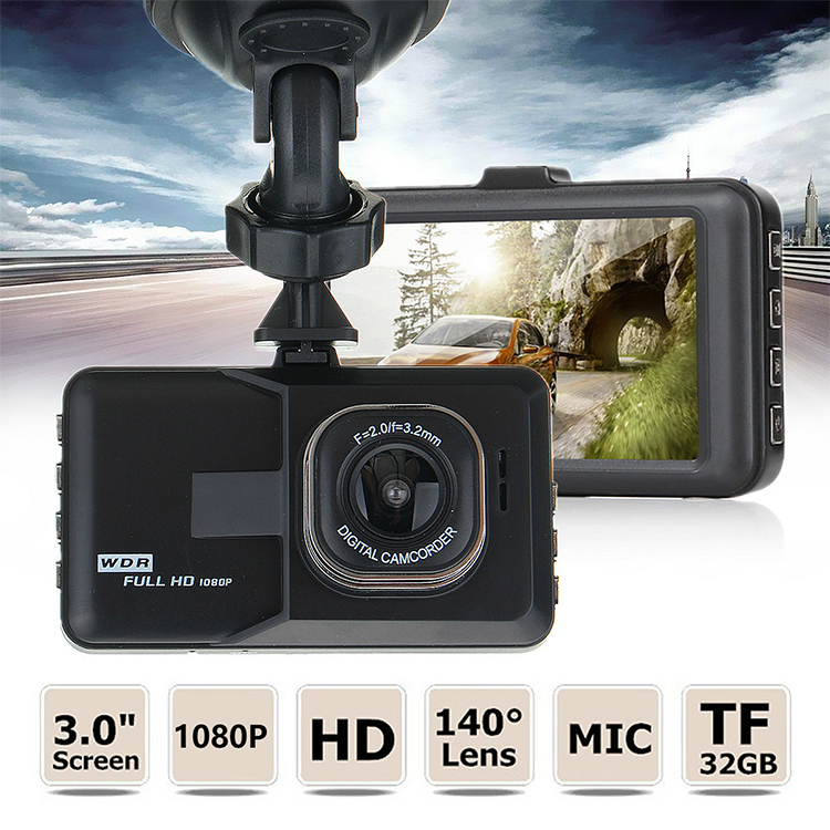 2020 Popular Portable 3 Inch Full HD 1080P Dual Dash Cam with Huge Shot