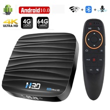 Android TV Box Android 10 4 ГБ 32 ГБ 64 Гб 4K H.265 медиаплеер 3D видео Netflix 2,4G 5 ГГц Wifi Bluetooth Smart TV Box телеприставка