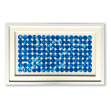 3d Home decor Blaue <span class=keywords><strong>punkte</strong></span> glas schatten box wand kunst mit PS rahmen