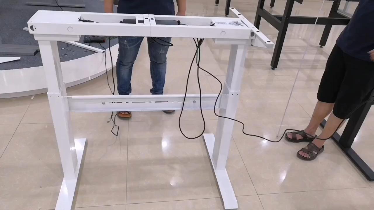 Стоячая рабочая станция стол двойной мотор эргономичные ноги современная исполнительная мебель офисный стол