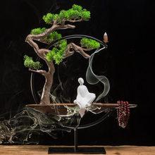Китайский дзен предмет интерьера, украшение ароматные ремесла Творческий туман сосны-скульптура Будды, статуя гостиной украшения для дома(Китай)
