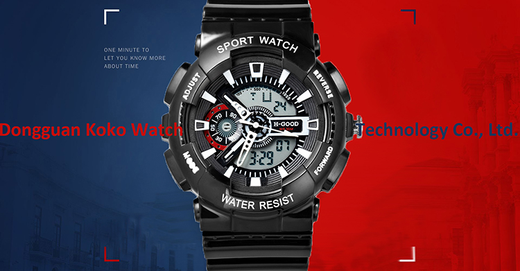 Hot selling stainless steel buckle watches PU band wrist low price