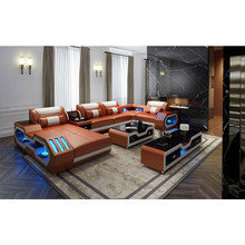 Orange farbe echtem leder sofa set <span class=keywords><strong>sectionals</strong></span> & <span class=keywords><strong>loveseats</strong></span>