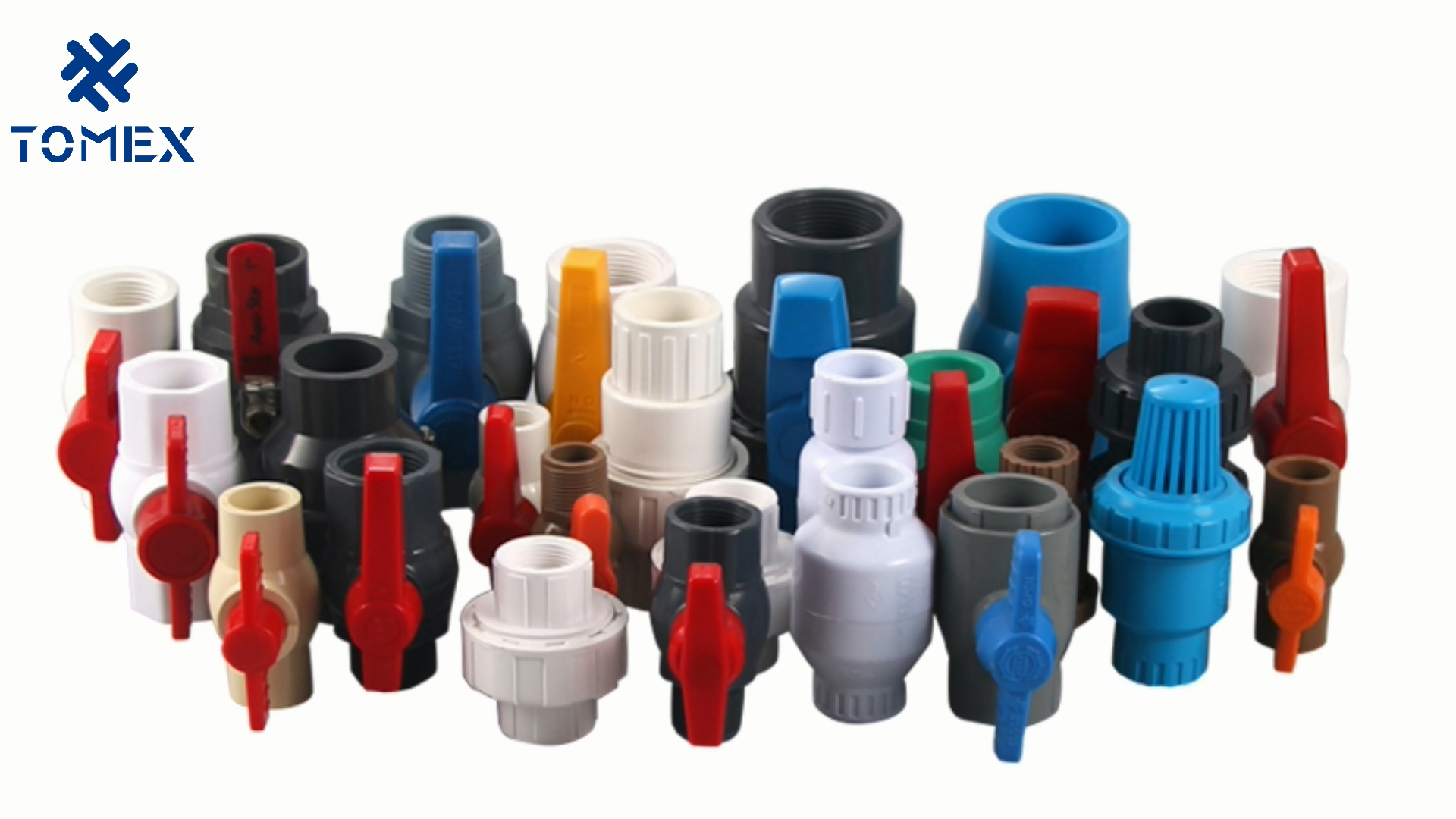 High quality  PN10 PVC compact ball valve for irrigation