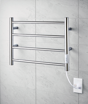 stainless steel wall mounted bathroom heated towel warmer rack with timer