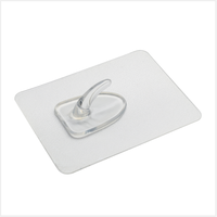 Strong adhesive magic wall sticky hook without nails/ portable clear plastic adhesive transparent wall selfsticking hooks