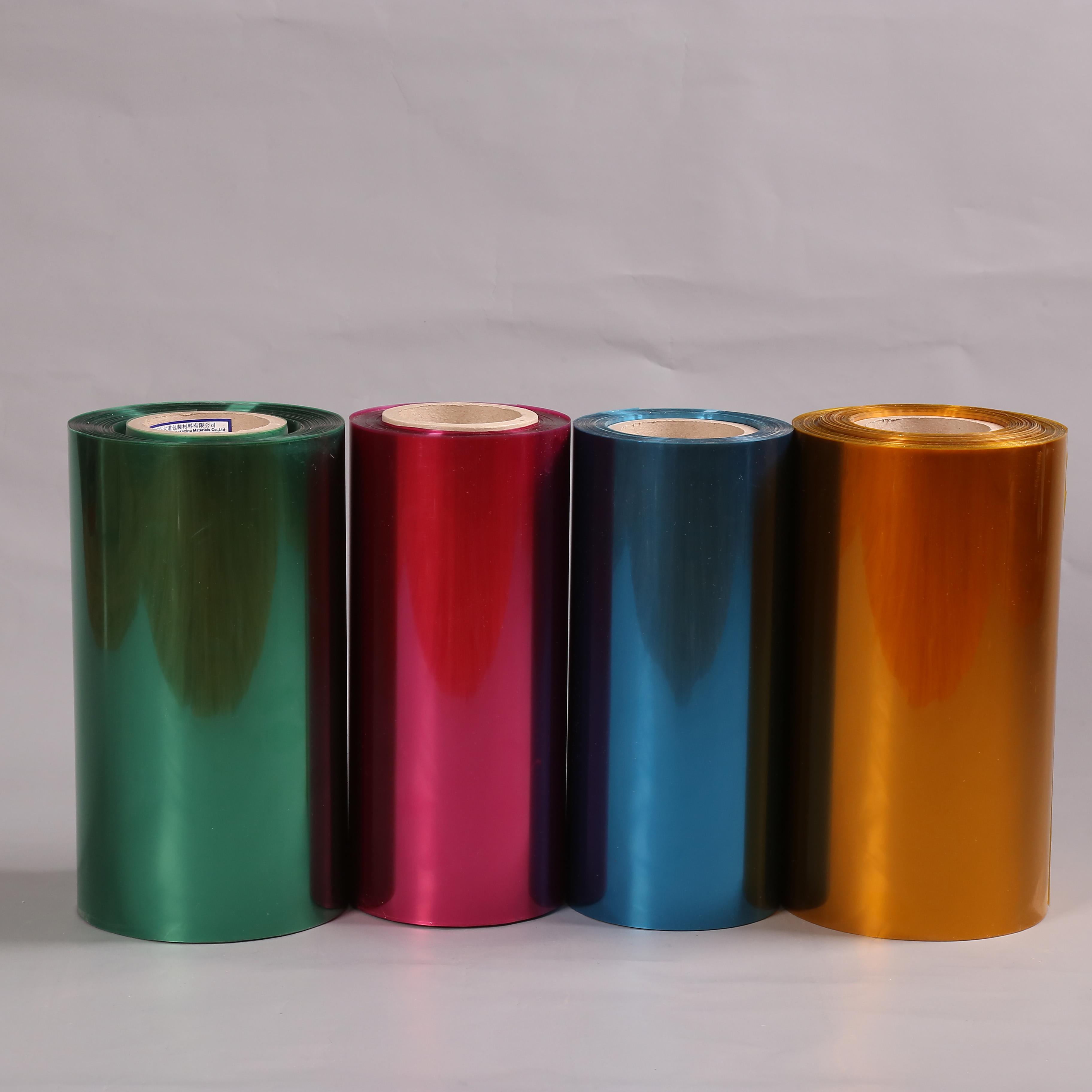 Blaue farbe haustier kunststoff film