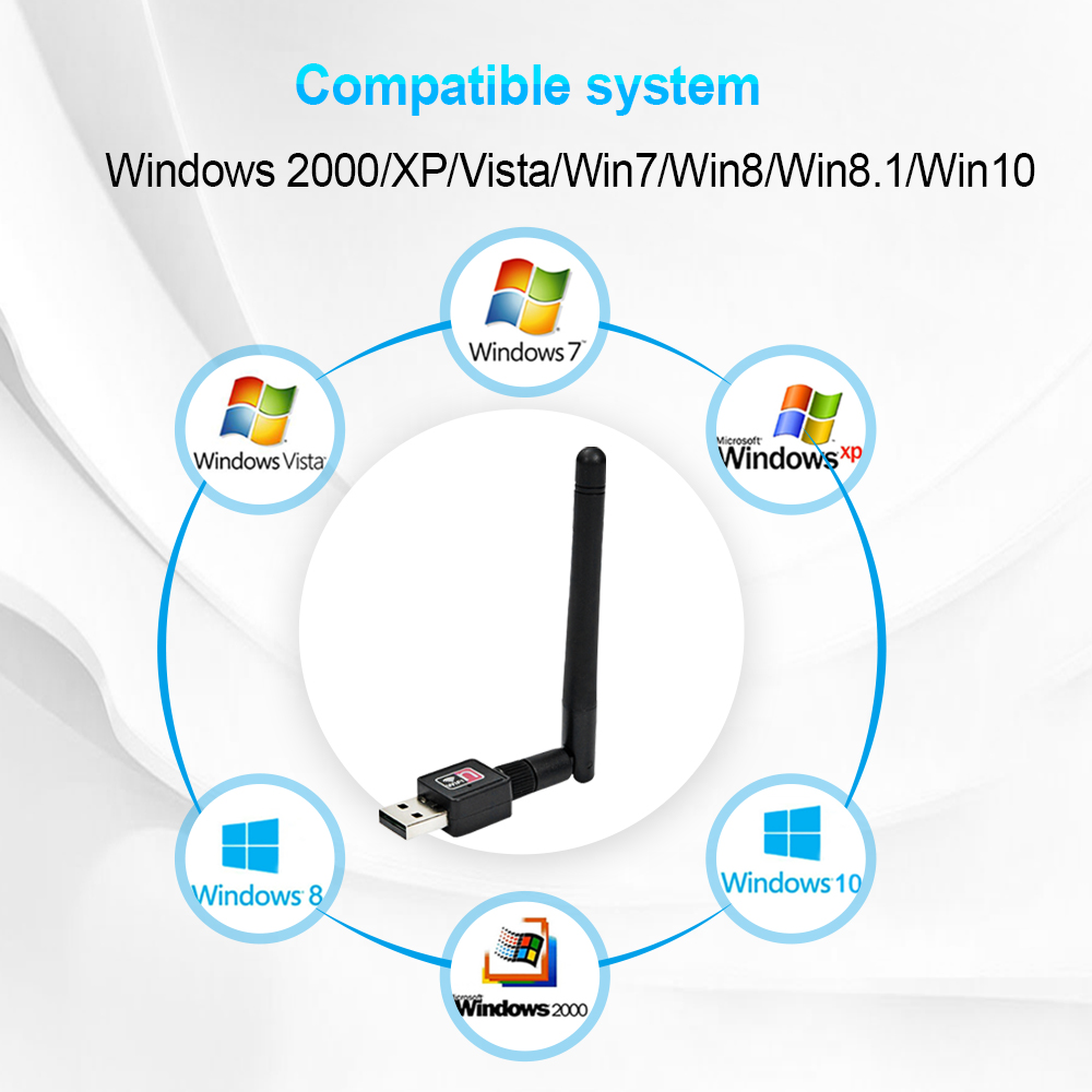 USB WiFi Adapter Ralink Wi-Fi Antenne Lan USB Ethernet 150M 2dB PC WiFi Dongle Wireless Netowork Karte USB Wi fi Empfänger
