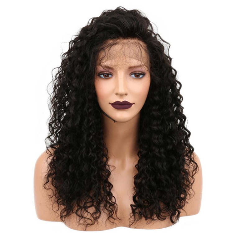 High Density180 Long Kinky Curly Lace Front Heat Resistant <strong>Synthetic</strong> <strong>Wigs</strong>