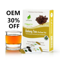 Authentea Oolong tea private label instant tea Osmanthus Flat tummy detox herbal chai tea powder for Slimming weight loss