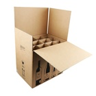 Double layer corrugated cardboard 12 bottles wine shipping box for glass bottles