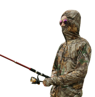 china manufactory Waterproof Customized Size Camouflage Printed Polyester Outdoor Winter Fishing Suit