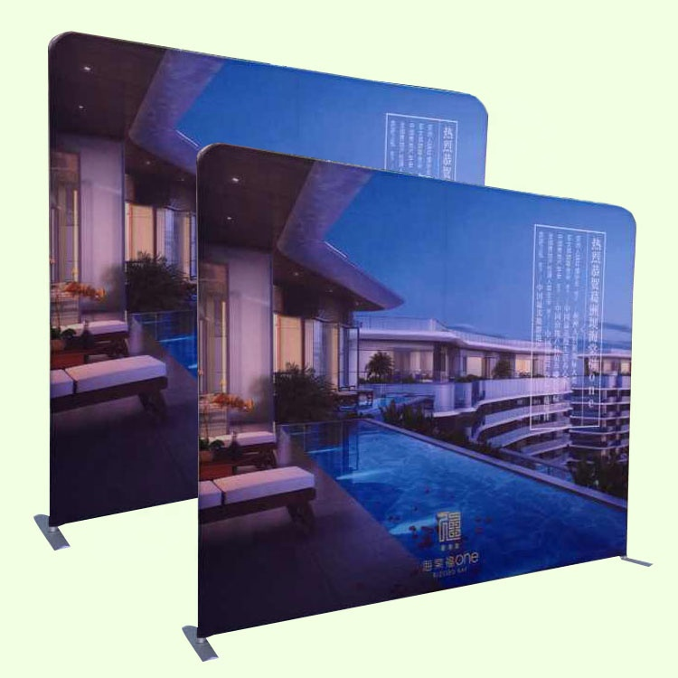 Custom 8ft Stretch Spanning Stof Display Pop Up Banner Stand