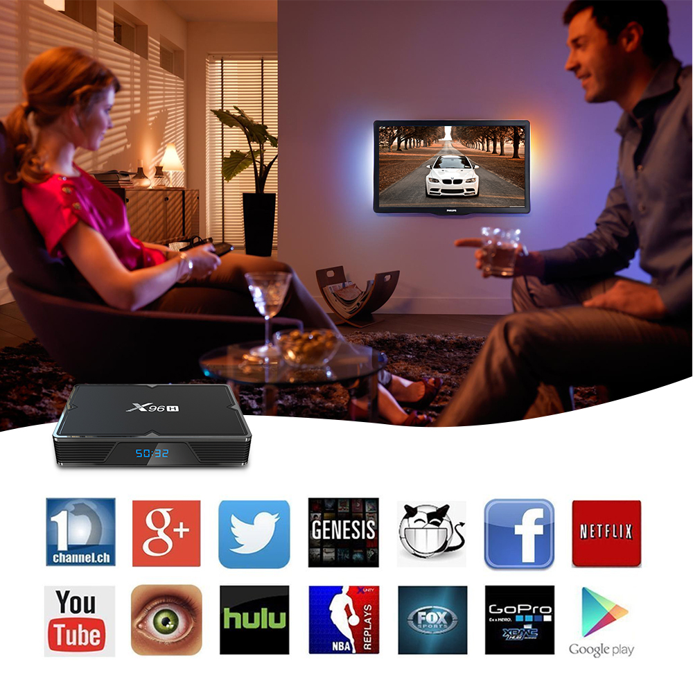 Allwinner Android 9.0 HDMI in and HDMI out Smart Set Top Box 4GB 32GB