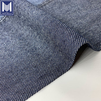Blue or customized jacquard dress fabric hemp fabric organic for jeans dress