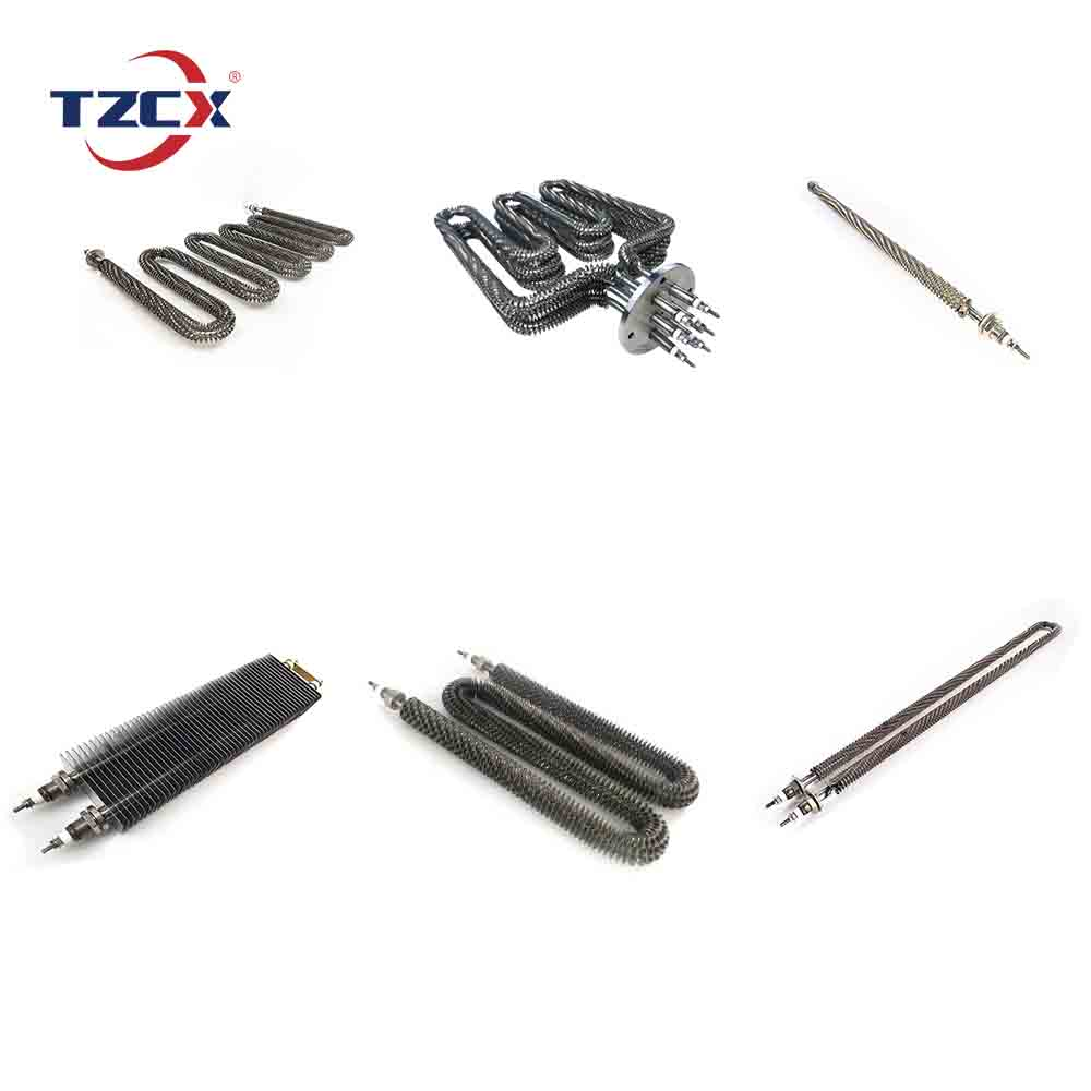 The popular TZCX brand customized Stainless Steel air heater Electric Finned Heating Element
