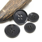 Black customized stock 4hole real buffalo horn button