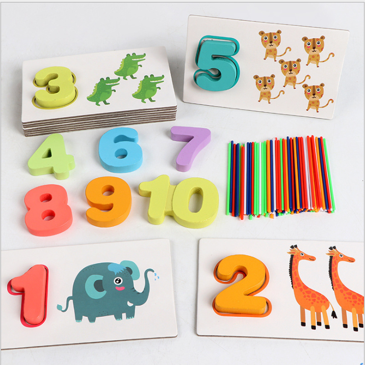 Wooden abc Alphabet Letters Animal Match Puzzles Cards Early education math toys for children Preshcool Learning Toy