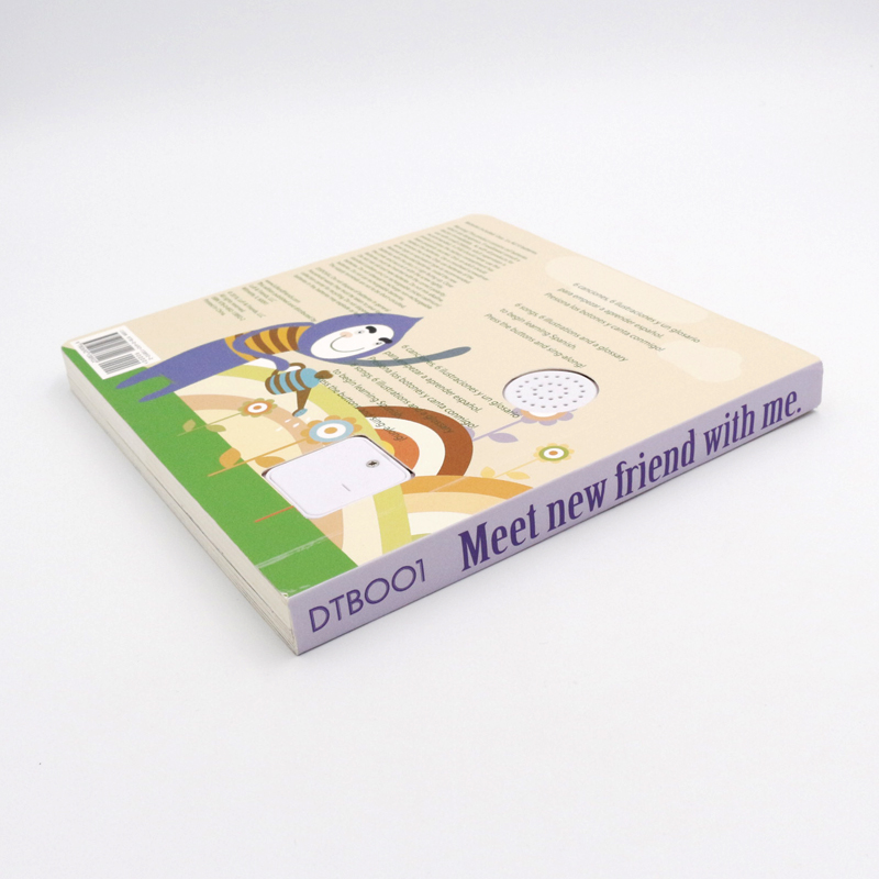 Hot sales sound book voice book custom printing voice recordable book for learning