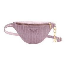 Модная поясная сумка в стиле ретро из искусственной кожи аллигатора на груди, женская сумка на молнии с ремнем через плечо, сумка-кошелек, од...(Китай)