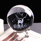 Three-dimensional laser engraving crystal miniature glass ball decoration
