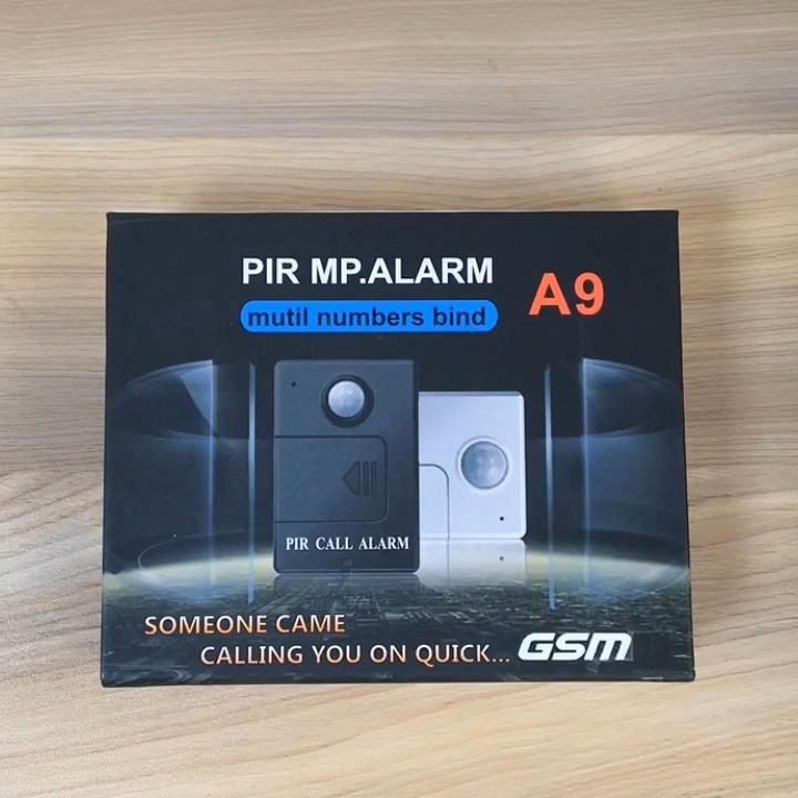 Detector de movimiento PIR inalámbrico, Sensor PIR de alerta MP, sistema de alarma GSM antirrobo, Control remoto