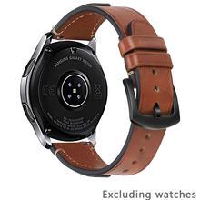 Ремешок для часов из воловьей кожи 22 мм для samsung Galaxy watch 46 мм для Huawei watch GT 22 мм женские Ремешки для наручных часов мужские ремешки для быстрого...(Китай)