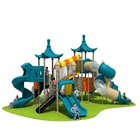 Baby Outdoor Play Equipment 2 Swing Set Kids Plastic Playground Fable Theme