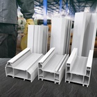 factory extrusion 60/80 sliding series plastic windows and doors frame upvc/pvc profiles