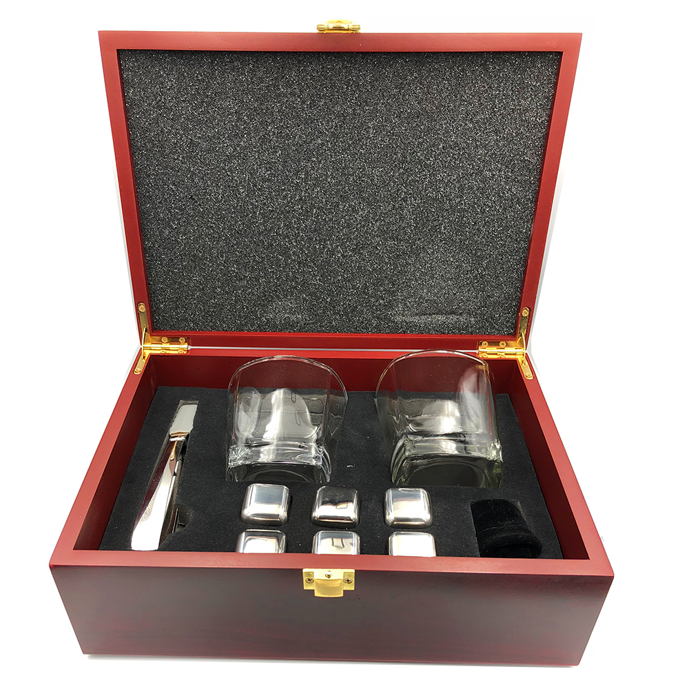 Best Gifts Whiskey Cooling Stone Set Of Glasses and stainless steel ice cube set and whiskey stone gift set