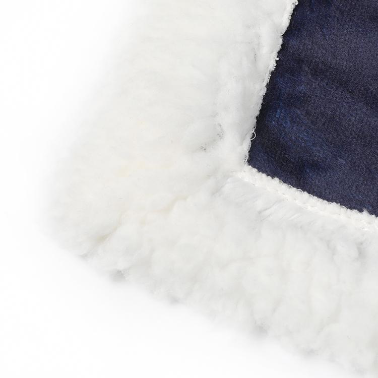 Custom OEM cartoon spaceman flannel fleece soft kids adult baby wearable warm sherpa hoodie hooded blanket