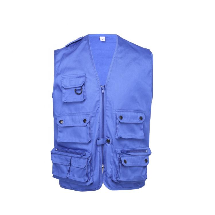 Custom Mens Cargo Work Multi Pockets  Gilet Waistcoat Vest for Climbing Fishing  Hiking Journalist Photography Camping vests