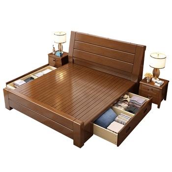 Storage Bett Modern Queen Lit King Size Double Wood Beds Frame