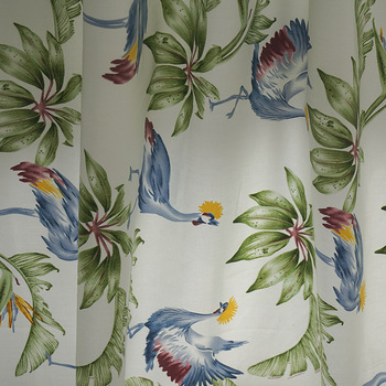 100% cotton twill sateen printed fabric wholesale Hawaiian tropical leaf bedding fabrics