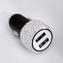 Двойное быстрое автомобильное зарядное устройство USB 12-24 В, автомобильный usb-порт 2 порта, автомобильное usb-устройство для зарядки телефона, з...(Китай)