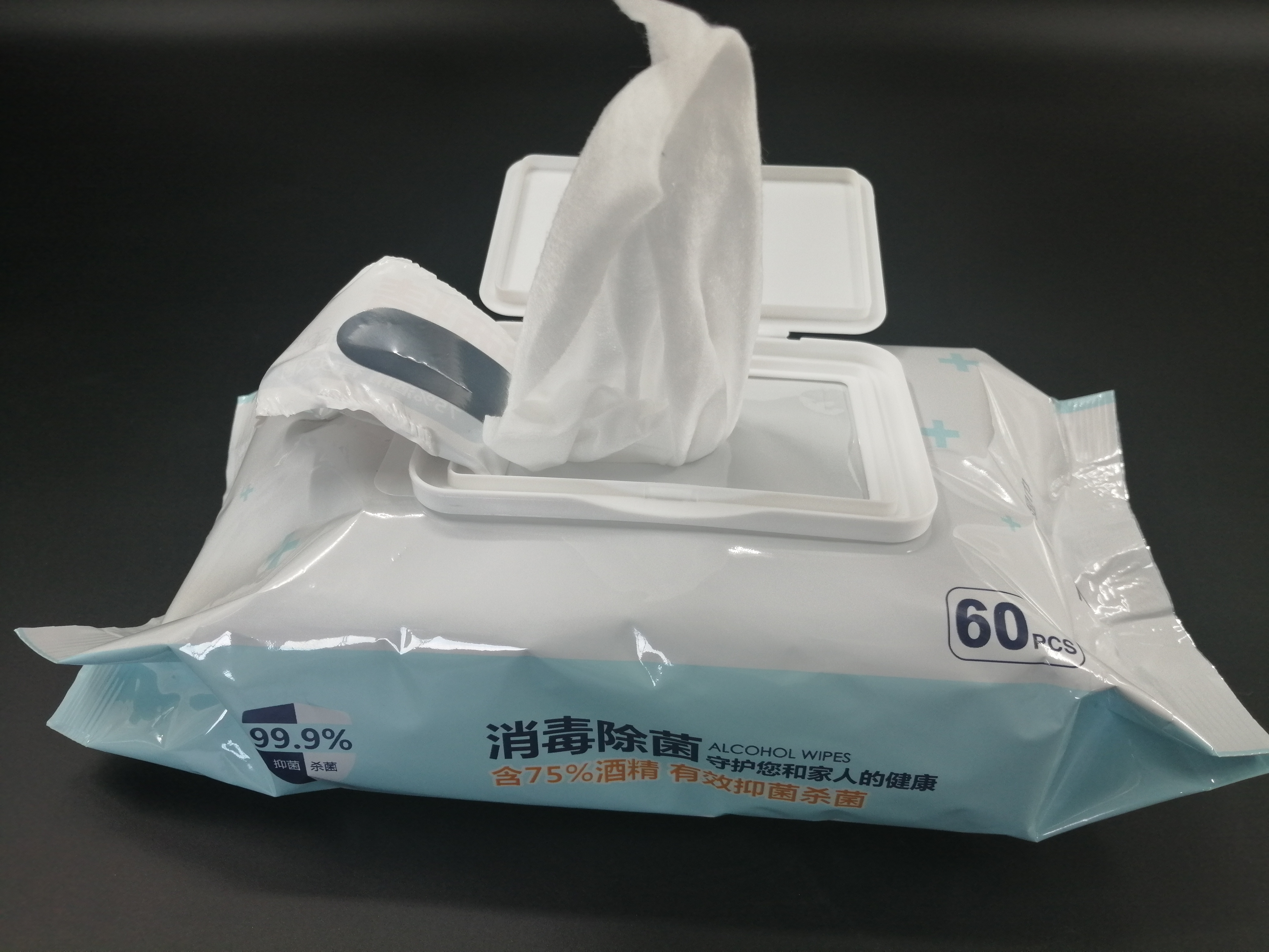 bag packing cleaning Wet Wipes 50pcs/bag