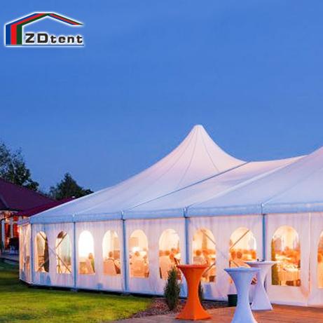 25X30m هيكل الألومنيوم خيمة زفاف الأحداث 500 الناس