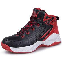 Баскетбольная обувь для мальчиков, Нескользящие Детские кроссовки на резиновой подошве с высоким берцем, спортивная обувь для детей, обувь ...(Китай)