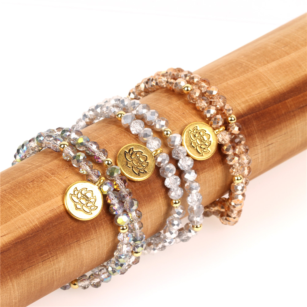 New Arrival Girls Voga Bracelets Winding Glass Beads Bangles Fine Jewelry