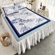 Комплект постельного белья в европейском стиле, 3 шт./компл., простыня из вискозы, наволочка, классная наволочка для кровати, кружевной домаш...(Китай)